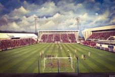 Dunfermline Athletic 2:1 Raith Rovers East End Park  23rd April 2011 - 20'' x 30'' Box Canvas Print